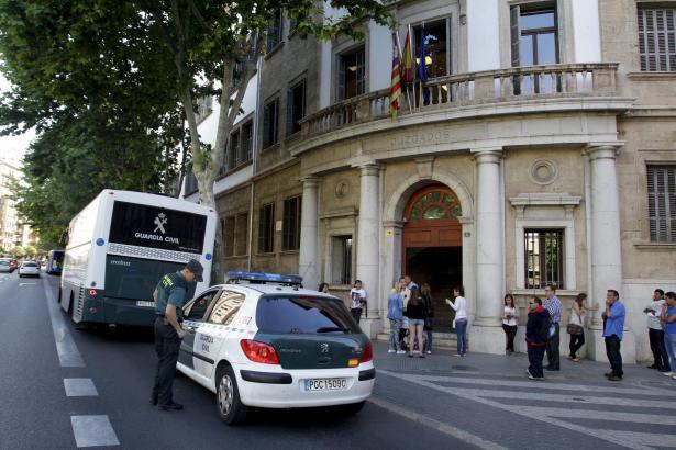 Das Gericht an Palmas Avenida Alemania war von der weltweiten Hacker-Attacke betroffen.