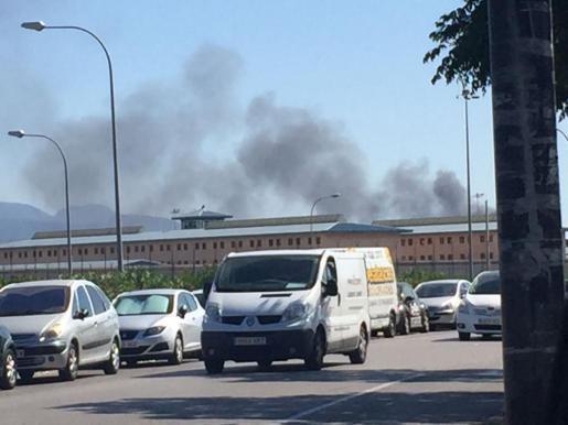Die Rauchwolke war auch in Palma zu sehen