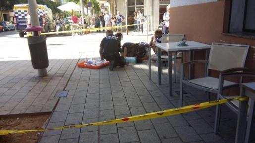Das Baby stürzte in der Calle Joan Alcover in Palma aus dem ersten Stock