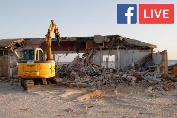 Am Mittwoch waren alle betonierten Strandlokale am Es Trend abgerissen