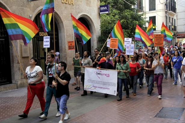 "Protestaktion der Gay- und Lesbenvereinigung ""Ben Amics"" in Palma"