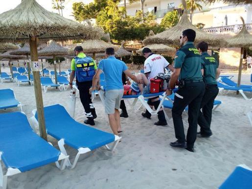 Der Unfall ereignete sich am Strand von Santanyí.