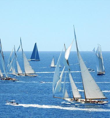 Wenn die Schiffe in der Bucht kreuzen, dann ist das ein sehenswertes Schauspiel