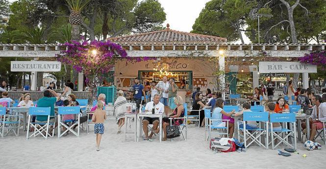 Der Beachclub Il Chiringo in Palmanova.