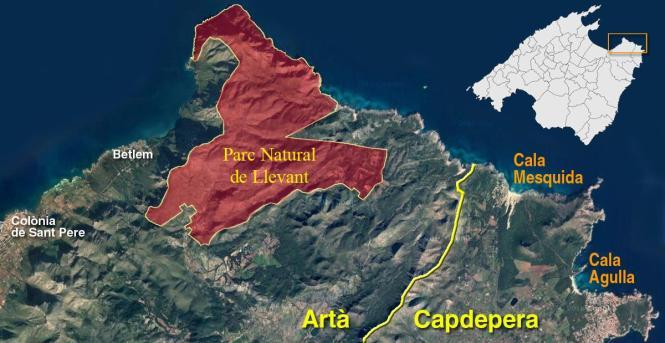 Der Naturpark liegt im Nordosten von Mallorca.