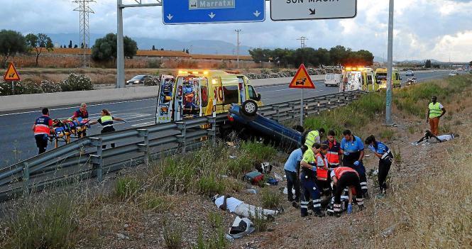 Der Unfall ereignete sich am Sonntag unweit der Ausfahrt Es Pont d'Inca.