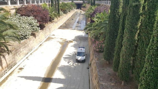 Das Flussbett in Palmas Innenstadt muss jedes Jahr gesäubert werden
