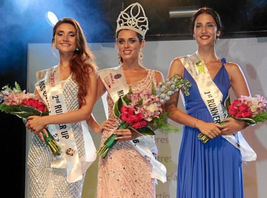 Die neue Miss Xisca Palmer mit ihren Ehrendamen Elena Olalla und María Torres.