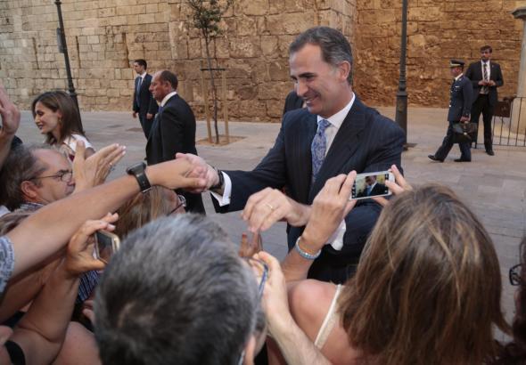 Als sie im vergangenen Jahr die Vertreter der mallorquinischen Society empfingen, gaben sich König Felipe VI. und seine Letizia