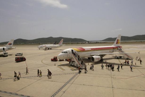 In diesem Jahr muss Iberia-Handling auf Ibiza besonders viele Maschinen abfertigen.