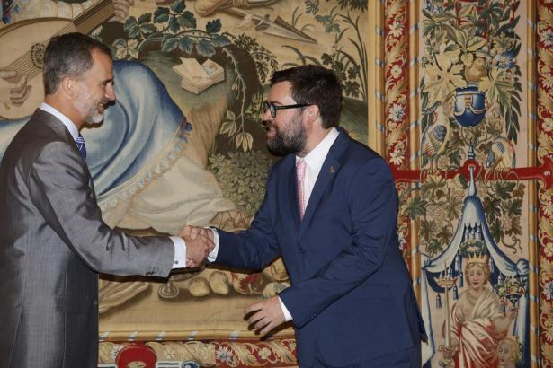 Nur wenige Tage nach seinem Amtsantritt schüttelte Antoni Noguera dem spanischen Staatsoberhaupt erstmals die Hand.
