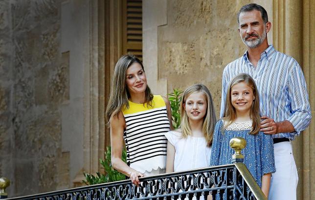 Letizia, Leonor, Sofia und Felipe.