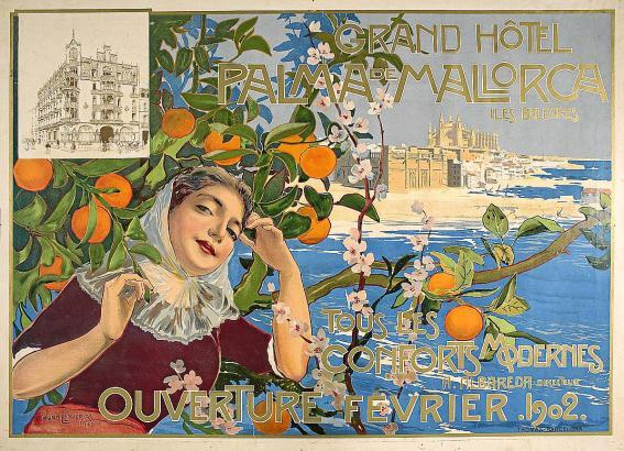 Mallorca-Plakat aus dem Jahr 1902.