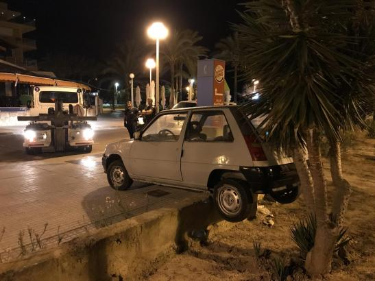 Die Unfallstelle in Palmas Stadtteil Santa Catalina.