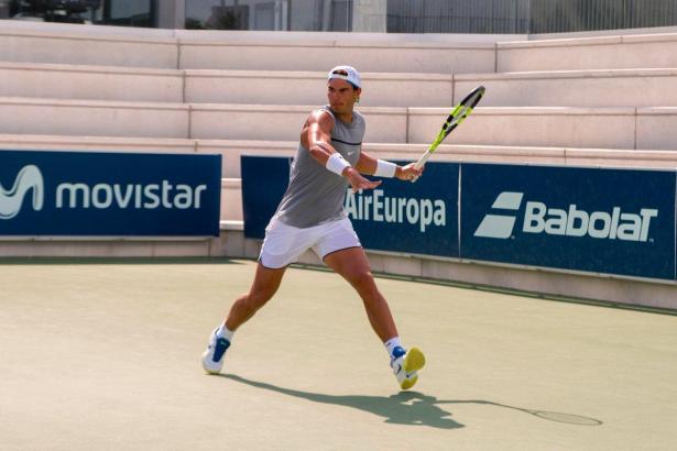 Rafael Nadal beim Training auf dem Centre Court seiner Tennis-Akademie in Manacor.