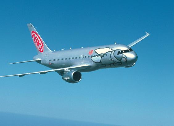 Ein Flugzeug der österreichischen Air-Berlin-Tochter Niki.