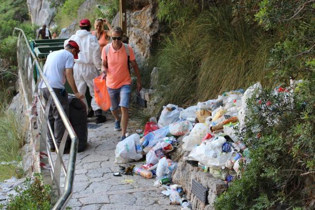 Kein schönes Bild im Torrent de Pareis auf Mallorca.