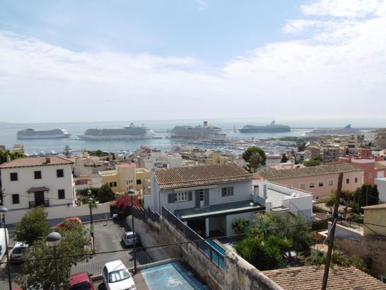 Am Dienstag lagen erneut fünf Ozeanriesen im Hafen von Palma de Mallorca.