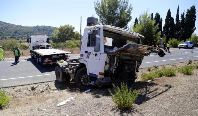 Bei dem Unfall war der Zementtransporter bei Sa Pobla mit drei Wagen zusammengestoßen.