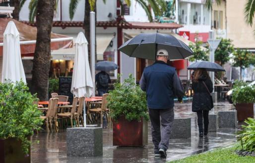 Für die Balearen sind Regenschauer vorhergesagt, wie hier auf dem Archivbild aus Ibiza.