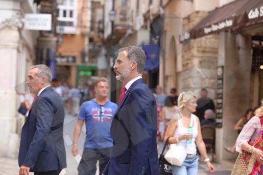 König Felipe am Samstag in der Innenstadt von Palma.