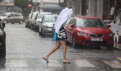 Am Sonntag regnete es auf Mallorca teils kräftig.