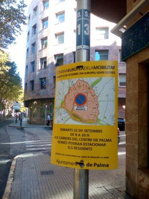 Zum Autofreien Tag vor zwei Jahren war das Parken in Palmas Altstadt verboten. Dieses Jahr betrifft es alle ORA-Zonen der Stadt.