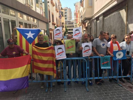 Protestkundgebung gegen den spanischen Ministerpräsidenten Mariano Rajoy in Palma.