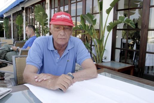 Niki Lauda im Jahre 2009 während eines Besuches auf den Balearen.