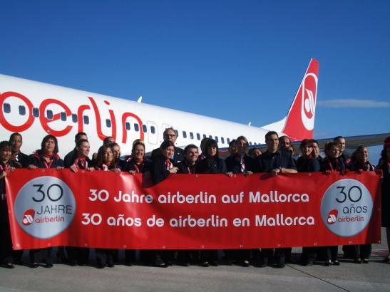 Im Jahre 2009 feierte Air Berlin das 30-jährige Bestehen auf Mallorca. 2017 verabschiedete sich die Airline von der Insel, flieg