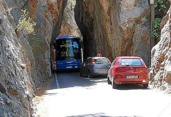 Besonders in Sa Calobra ist das Verkehrsaufkommen hoch