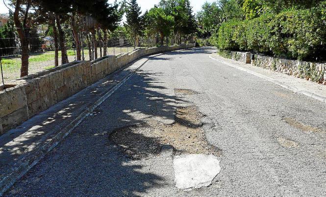 Viele Straßen in Port Verd sind in schlechtem Zustand