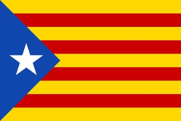 "Die inoffizielle ""Estelada""-Flagge Kataloniens."
