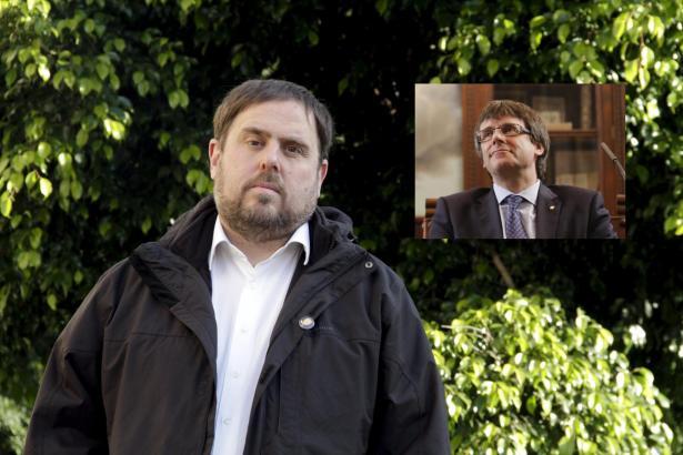 Ein Gericht in Madrid hat die Inhaftierung des stellvertretenden katalanischen Ministerpräsidenten Oriol Junqueras (großes Foto)