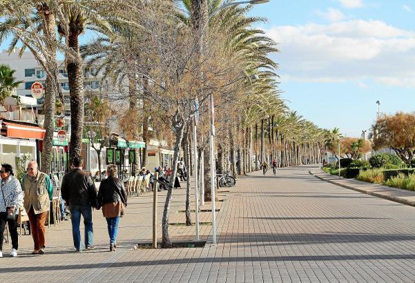 playa de palma sin gente invierno