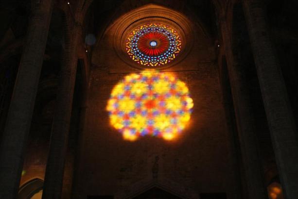 Lichtwunder in der Kathedrale von Palma de Mallorca.