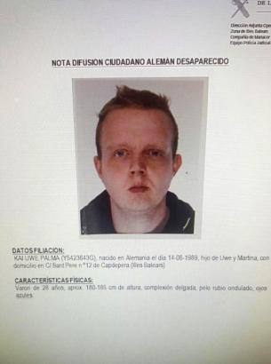 Diese Suchanzeige veröffentlichte die Guardia Civil im August.