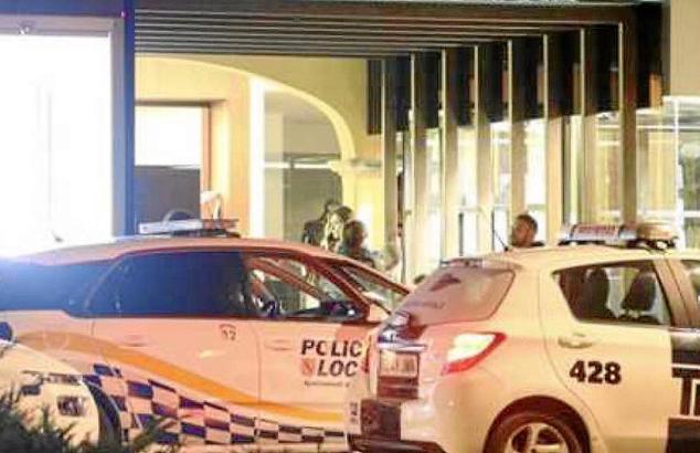 Polizeieinsatz nach dem Raubüberfall auf Mallorca.