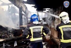 Die Feuerwehren rückten in Manacor an.