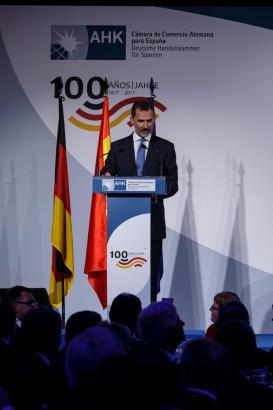 Zum Jubiläumsempfang in Madrid kam auch Spaniens König Felipe.