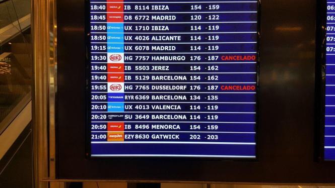 Alle Niki-Flüge am Donnerstag ab Palma wurden gecancelt.