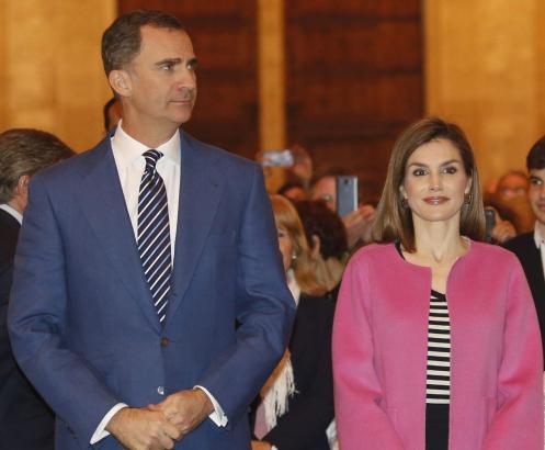 Hier sieht man König Felipe mit Gattin Letizia bei der Eröffnung von Palmas Kongresspalast.