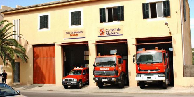 Einsatzbereit – die Feuerwehr von Felanitx.