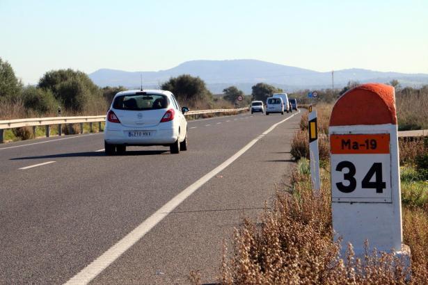 Die Ma-19 zwischen Llucmajor und Campos ist ein Unfallschwerpunkt.
