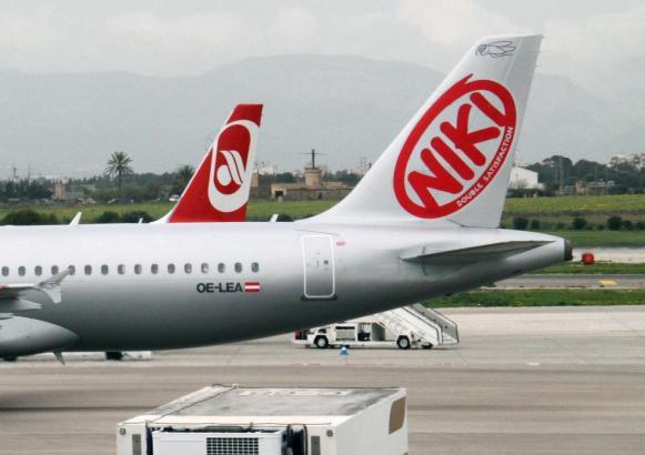 Niki-Maschine auf Mallorca.