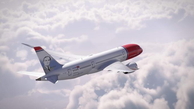 Mirós Konterfei ziert die Heckflosse zwei neuer Norwegian-Flugzeuge.