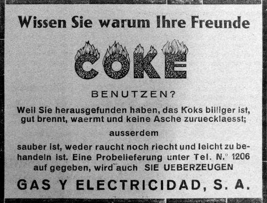 Der Energieversorger Gesa hatte bereits 1933 deutsche Residenten als potenzielle Kunden im Blick.