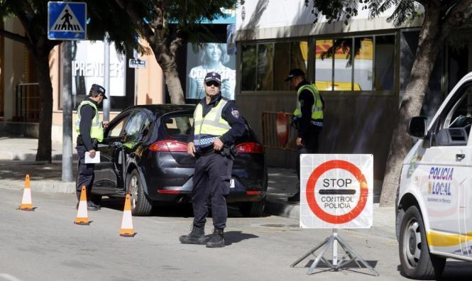 Verkehrskontrolle in Palma de Mallorca.