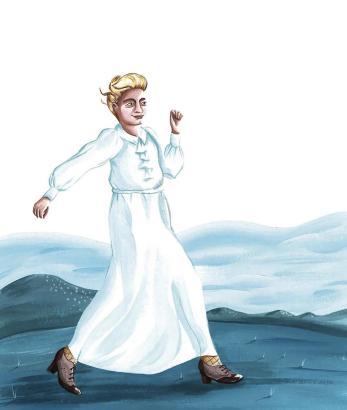 So sieht Illustratorin Nívola Uyá Clara Hammerl. Die Comicfigur spricht jetzt auch Deutsch.