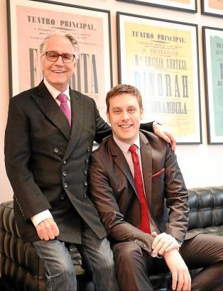 Festival-Intendant Wolf Bruemmel (l.) mit seinem neuen Geschäftspartner und Management-Direktor Benedikt Matthias Reimann.